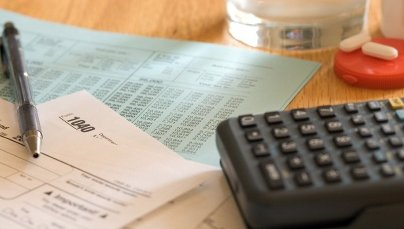 irs cancellation of debt table with tax forms on it